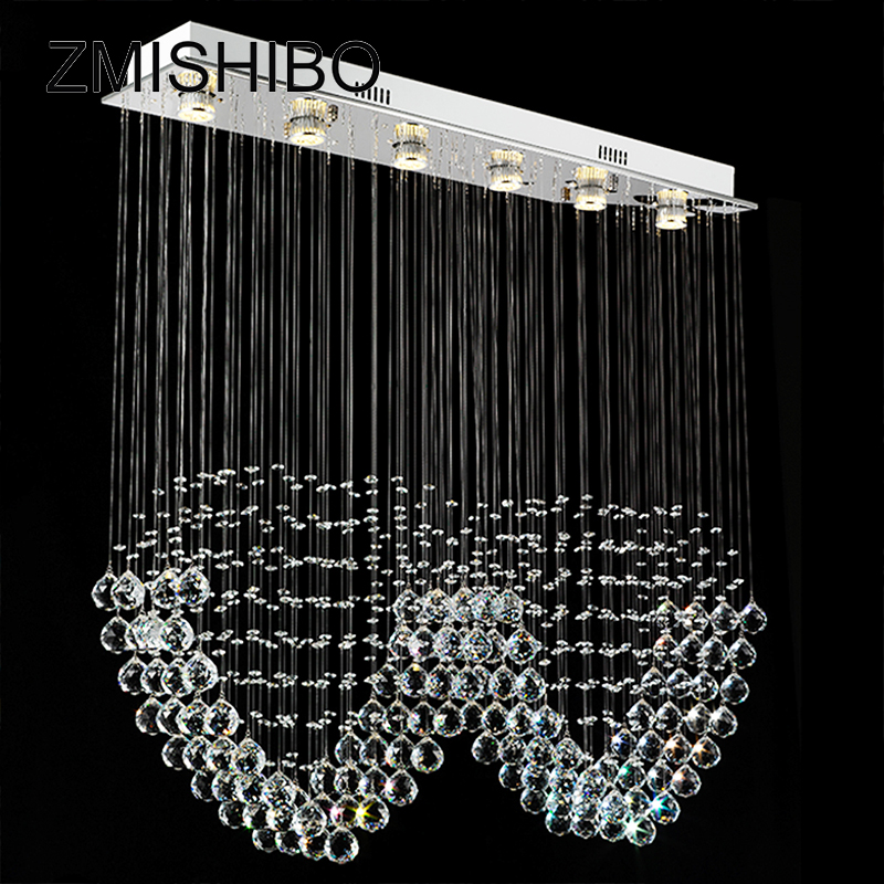 ZMISHIBO Double Heart Crystal Pendant Ceiling Lamp 3/6 LED Bulbs 110-220V Surface Mounted Chandelier Lighting Master Bedroom 3 led bulbs l24 x w8 x h23 6 crystal chandelier pendant lamp raindrop hanging suspension light lighting