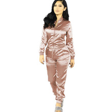 Autumn Two Piece Set Plus Size Tracksuits for Womens Clothing Two Piece Set Pants and Top O Neck Full Sleeve Casual Women Sets