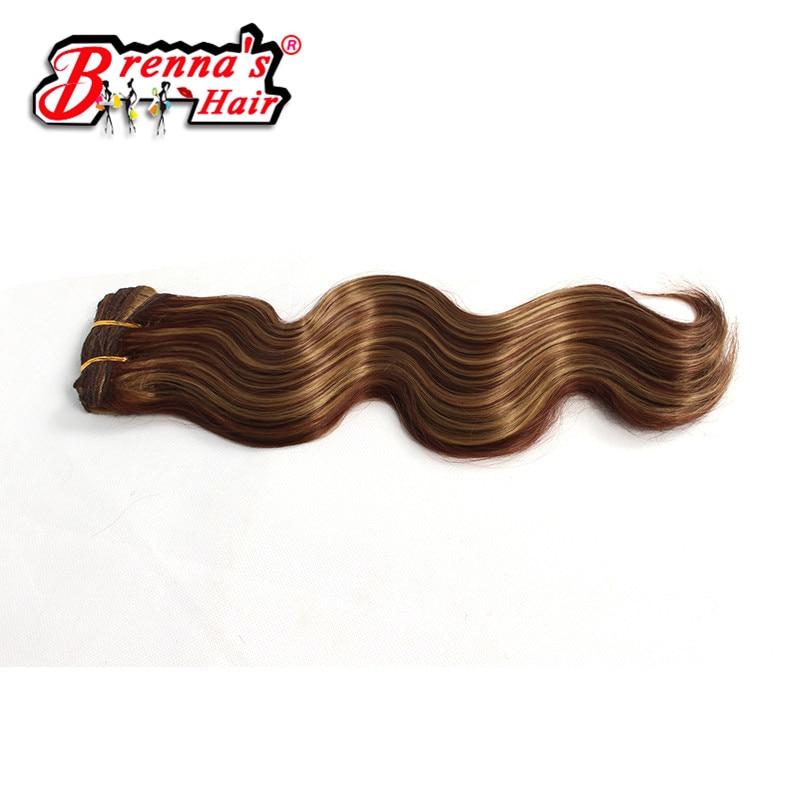 Бесплатная доставка 18 дюймов 20 дюймов Юнис волос Ткачество синтетические коричневый/черный женщины плетение наращивание волос уток Связки...