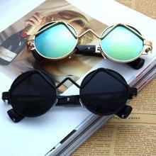 Q Vintage Men Sunglasses Classic Round Metal Frame Women Eye