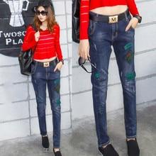 2016 Новые джинсовые шаровары брюки стрейч джинсы женщин vaqueros mujer pantalon femme