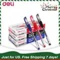 US. 7 Days Free Shipping Deli 1 Pack 12 Pcs Thin nib 0.5mm Needles Gel Pen School Officn