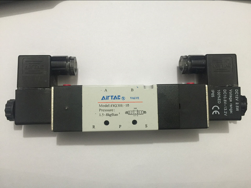 4V330E-10 5Way 3Position Dual Solenoid Pneumatic Air Valve 3/8 BSPT Brand New DC12V,DC24V or AC110V AC220V 1pcs 4v310 10 dc24v 5way 2 position single solenoid pneumatic air valve 3 8 bspt brand new