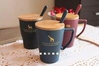 Garrafa de água xícara de café xícara de cerâmica xícara de leite caneca de vidro fosco com tampa da cabeça do escritório Frete grátis
