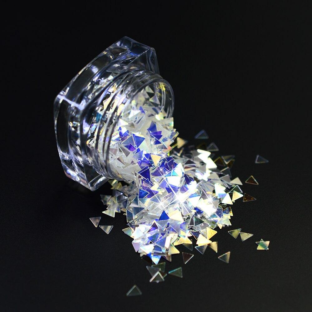 1g Nagel Glitter Laser Funkelnder Diamant Blau Shinning 3mm Blume ...