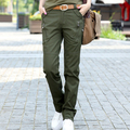 Army Green Pants Women 100% Cotton 2017 New Fashion Cargo Trousers Ladies Casual Pants Free Shipping