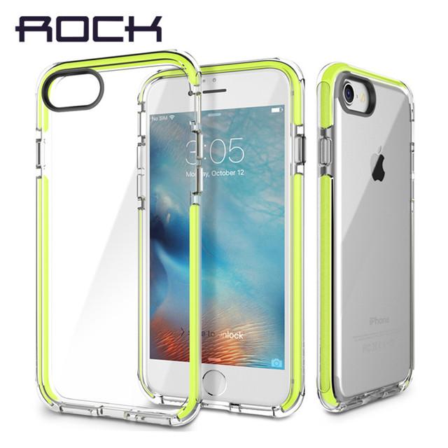 Rock certificação sgs anti batida phone case para iphone 7 7 além de Guarda Série TPU Macio + alta elástico TPE Proteção Queda case