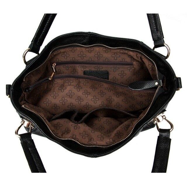 2017 Most Popular New Fashion Metal Soft Genuine Leather Women Handbag Ladies Shoulder Satchel Messenger Bag HigH Quality Purse