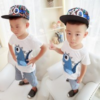 EMS DHL Free Shipping Wholesale NEW Boys 2pc Summer Set T Shirt Pants Dinosaurs Suit Baby
