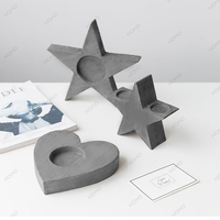 Star shaped Candlestick silicone mold heart type cement candle holder mold plaster desktop display creative Candlestick mould
