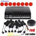 Envío gratis 9 colores a elegir 8 Sensores Del Revés Del Coche sensor de aparcamiento sin Pantalla LCD nonitor, el aparcamiento Sensores de alarma sistema