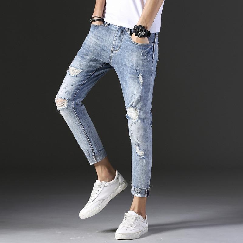 Cheap Wholesale 2019 New Autumn Winter Hot Selling Men's Fashion Casual  Denim Pants MP423