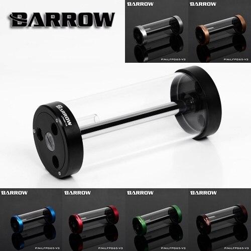 Barrow color 170MM65MM diameter cylindrical quartz glass tank cooling water tank computer LFPG65-V3