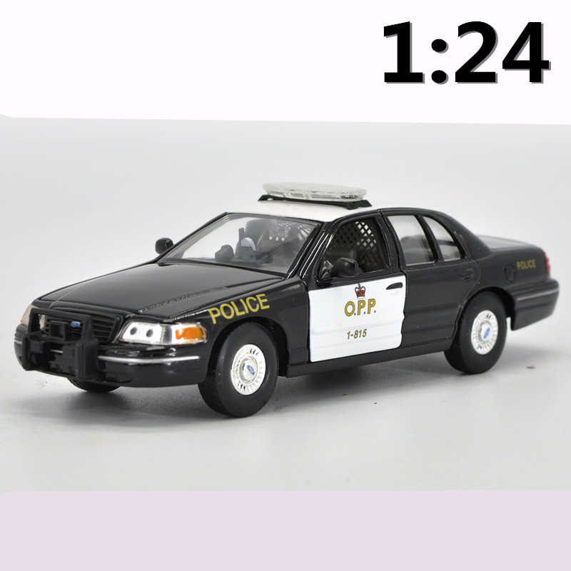 High simulation supercar,1:24 scale alloy 1999 Ford Crown Highway Patrol Car,Collection metal model toys,free shipping