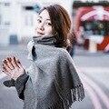 ACN * bufanda 100% bufanda De Cachemira unisex diseñador de la marca cc borla silenciador bufanda de lana de invierno gruesa caliente de gran tamaño chal Pashmina cape