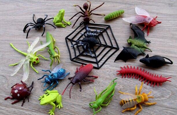 12 Plastic Figure Jungle sauvage Araignée Animaux Enfants Jouets Party Bag