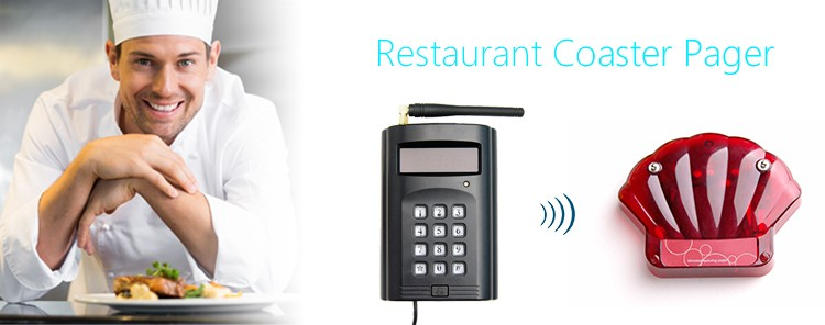 wireless restaurant Queue number coaster pager customer take a meal Call Coaster Pager System (4)(1)