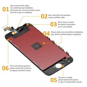 Image 5 - AAA For iPhone 5 5s 5c 6 6 Plus Display LCD Touch Screen Digitizer Assembly Replacement For iPhone 6 Screen+tempered glass+Tools