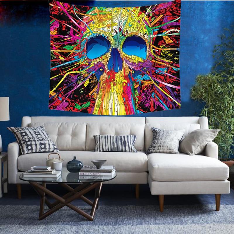 Wall Hanging Skull Tapestry
