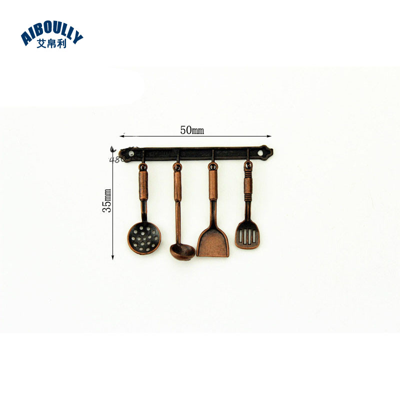Functional Copper Kids Kitchen Set: 10PCS Mini Dollhouse Mini Kitchen Kitchen Utensil Utensil