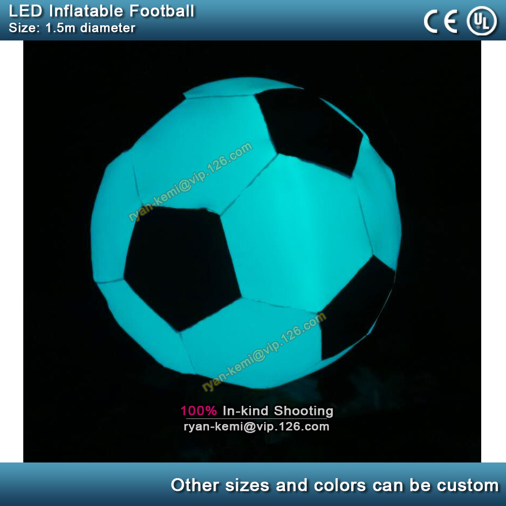 1.5m LED lighting inflatable football inflatable soccer ball party club bar hanging decoration inflatable balloon with LED light1.5m LED lighting inflatable football inflatable soccer ball party club bar hanging decoration inflatable balloon with LED light