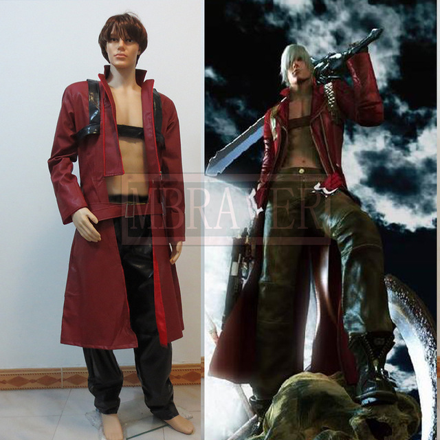 Game Anime Movie Devil May Cry DMC Dante Cosplay Costume Red Coat