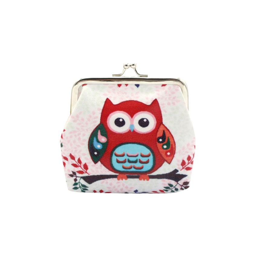 Women Girls Coin Purse Cute Owl Pattern PU Leather Hasp Wallet Bag Change Pouch Key Card Holder Dropshipping Wholesale LP
