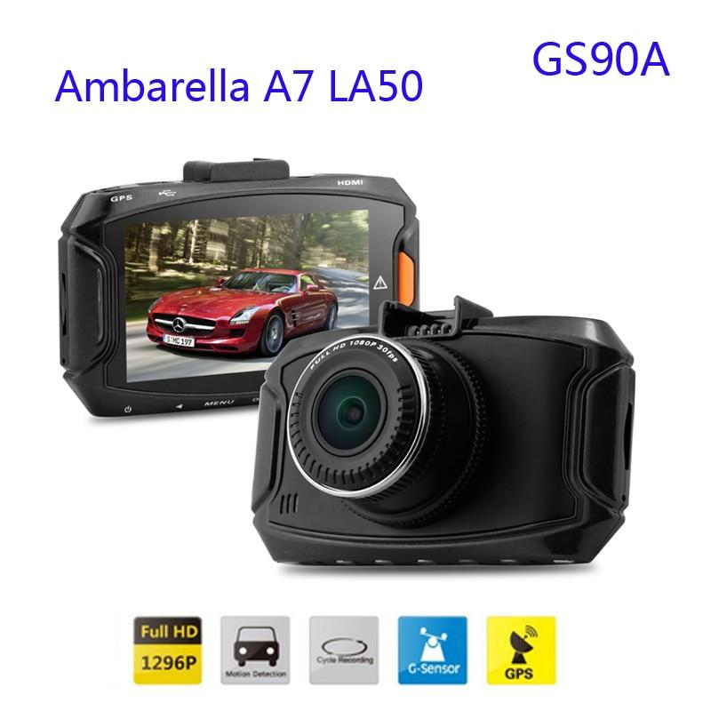imágenes para Coche dvr de Ambarella A7 GS90A LA50 FHD 2560*1080 P 30fps 5.0 MP 2.7 Pulgadas de la Cámara de la Rociada de 170 Grados H.264 GPS & g-sensor del Envío Libre!