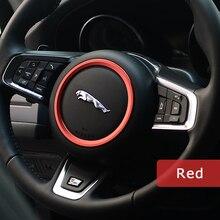 Aleación de Zinc DSYCAR volante pegatina anillo decoración logo Car styling Modificación para XE XF Jaguar F-TYPE F-PACE Pegatinas