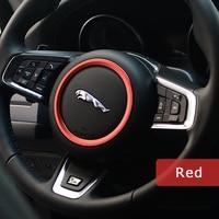 DSYCAR Zinc Alloy Steering Wheel Decoration Ring Sticker Logo Car Styling Modification For Jaguar XF XE