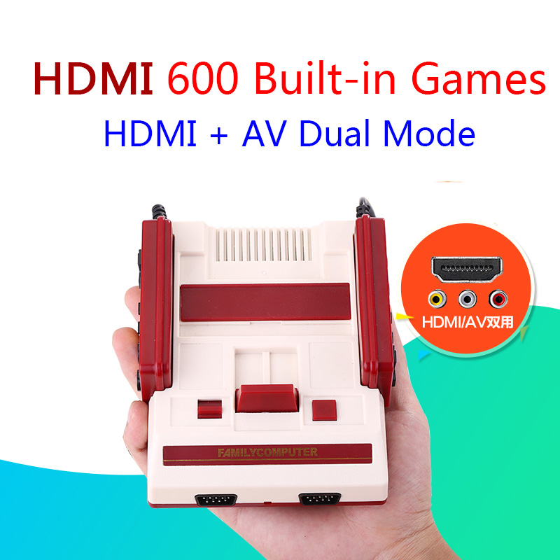 New Retro Family HDMI Mini TV Game Console HD Classic Handheld Video Game Player Built-in 600 Games Dual Gamepad Controlls nintendo gbc game video card pokemons classic collect classic colorful edition