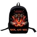 Rock Band ACDC Backpack Led Zeppelin / Pink Floyd Punk Backpack Men Women Nirvana Street Rock Backpacks For Teenage School Bags