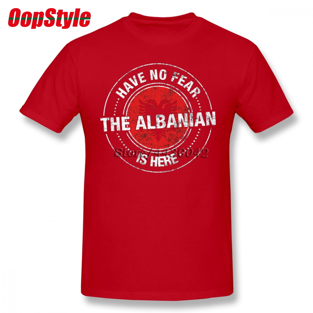 Have No Fear The Albanian Is Here T Shirt Custom Short Sleeve Clothes For Men Group Cotton 3xl Albania Flag Funny T-shirts Tops & Tees