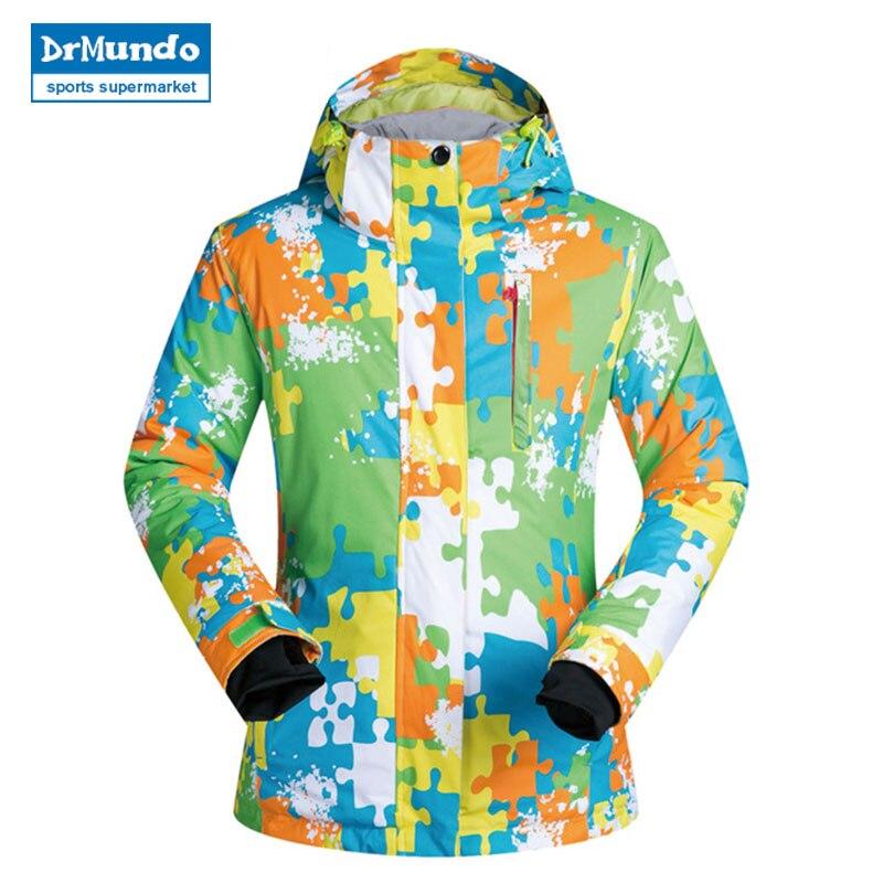 Veste femmes Ski nouveaux Sports de plein air femmes vestes de Ski coupe-vent imperméable thermique Snowboard veste manteau de neige femme patinage