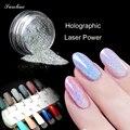 Holográfico Nail Powder POLVO DEL ESPEJO cromado Esmalte de Uñas Nail Art Glitter Polvo de Pigmento En Polvo Láser Lentejuelas Unicornio