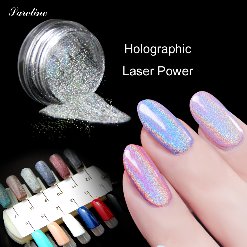 Extra Fine Holographic Chrome Nail Art Powder: Holographic Nail Powder MIRROR POWDER Chrome Nail Polish