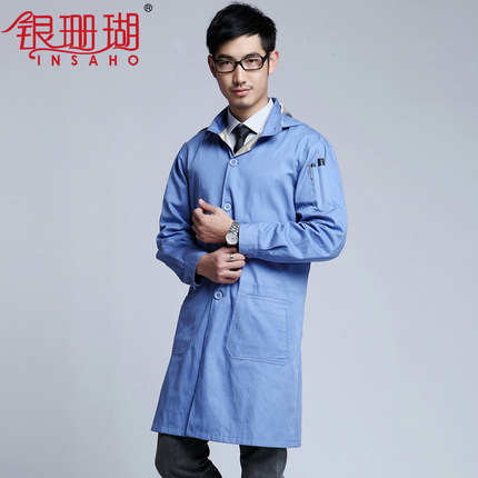 Double Strengthen Anti-radiation Coat Silver Fiber Anti-radiation Work Clothes With Hood SHD004 Both Men And Women
