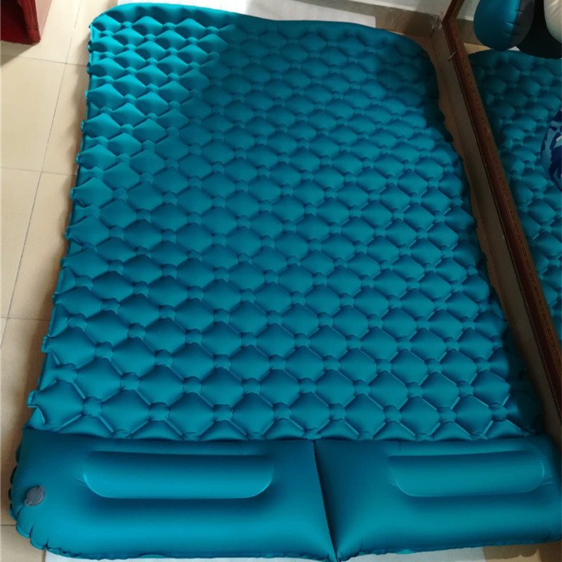 Outdoor 2 Orang Camping Mat Tpu Bed Inflatable Air Kasur Tenda Bantal Tidur Pad Sleepingmat Di Berkemah Tikar Dari Olahraga