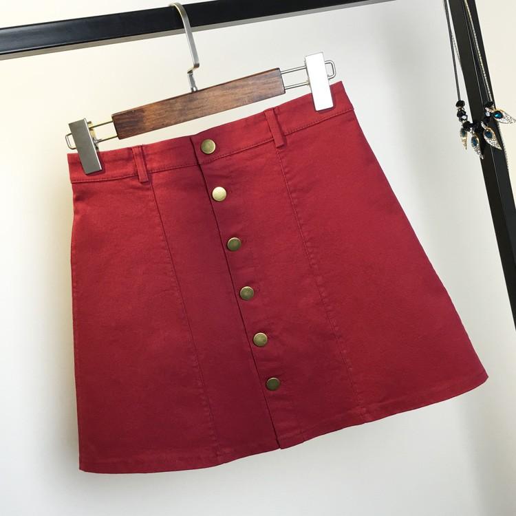 HTB1L4E0MpXXXXXoXVXXq6xXFXXXi - American Apparel button Denim Skirt JKP265