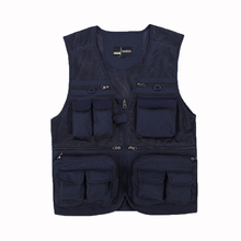 YJSFG HOUSE Brand Men Vests Outdoor Multi-Pocket Waistcoat Photography Mesh Sleeveless Jacket High Quality Grid Plus Size Tank