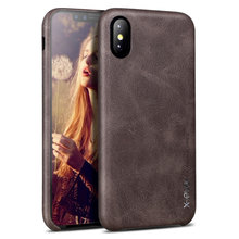 X-Level High Quality Vintage Phone Cases For Apple iPhone X Luxury Back Case Cover For IPhone X Case Business PU Leather