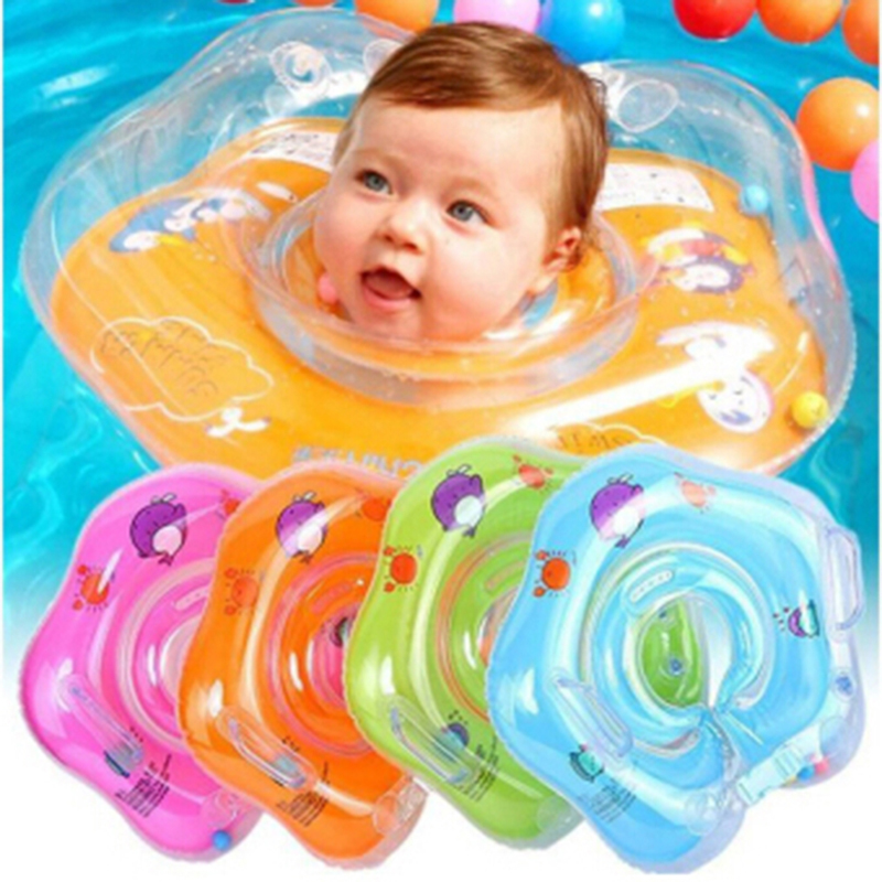 Cute Drop Neck Baby Dolphin Swimming Ring Inflatable
