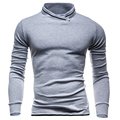 2017 new stand collar sweatshirt self-cultivation dual-use outer wear Hoodie bottoming