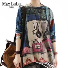 Max LuLu Winter Korean Fashion Style Designer Ladies Punk Clothes Womens Knitted Loose Sweaters Vintage Female Printed Pullovers