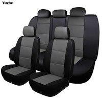 Yuzhe Universal auto tampa de assento Do Carro de Couro Para Mitsubishi Eclipse Lancer Outlander Pajero Zinger automóveis acessórios do carro