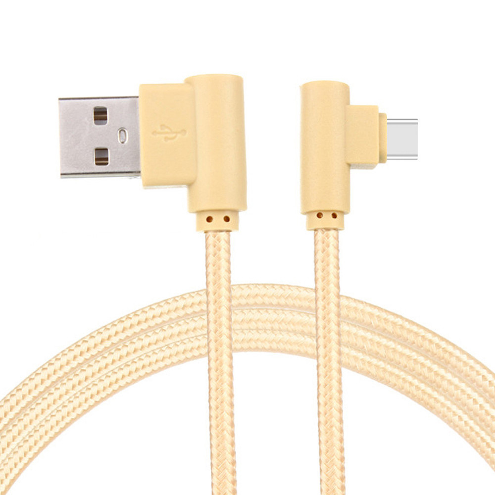 Unterhaltungselektronik Zubehör Und Ersatzteile Offen 3 Mt Typ-c Typ C Kabel Nylon Geflochtene Micro Usb 90 Grad Rechtwinklig 2a Daten Kabel Schnelle Ladung Sync Ladegerät Kabel Modische Muster