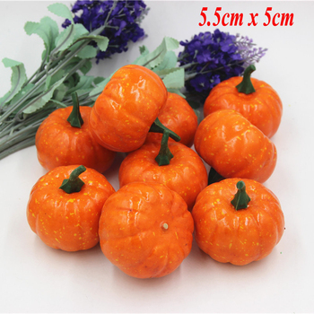 16pcs/Pack Mini Foam Pumpkin For Thanksgiving Fall Halloween Table Decor Vase Filler DIY Centerpieces Wedding Decorating 1