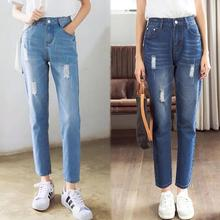 Yfashion Fashion Jeans Women Casual Spring Loose High Waist Straight Jeans with Pockets Jeans Denim Pants Trousers Women цена и фото