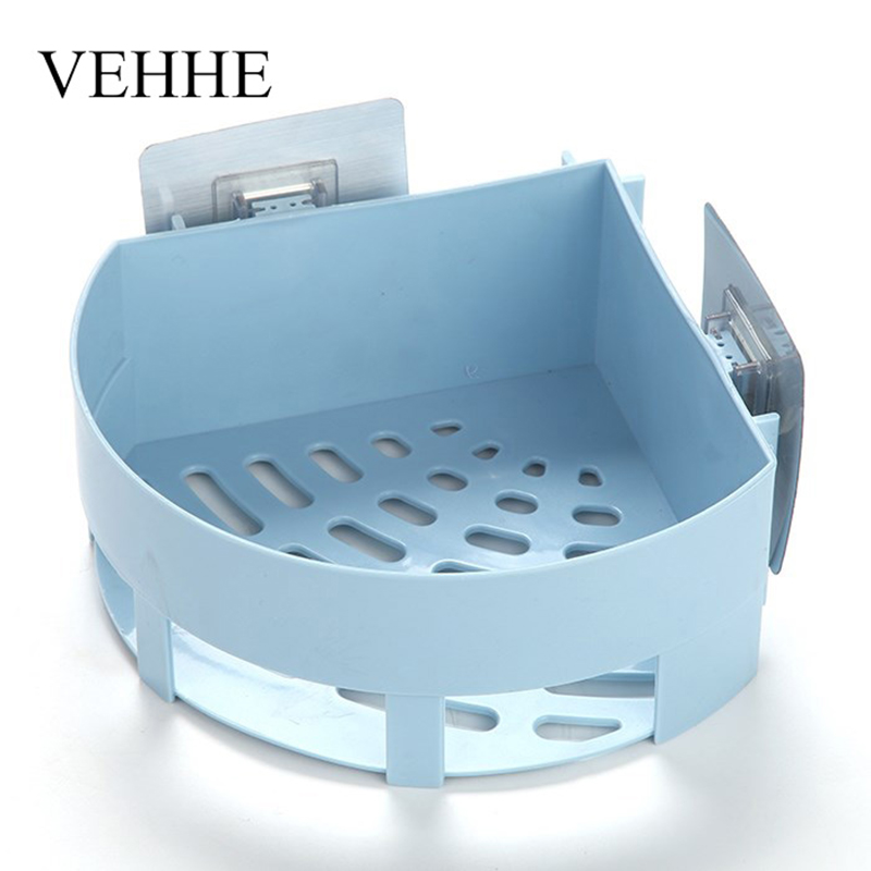 VEHHE Multifunction Bathroom Fixtures Shelf Corner Shelf no Drill Paste to Wall Holder Shower Basket Bathroom Accessory Rack