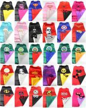 Superhero cape 1CAPE 1MASK batman super Hero font b Costume b font for Children Halloween Party